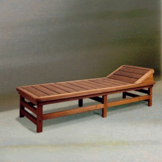 Lounger with headrest -...